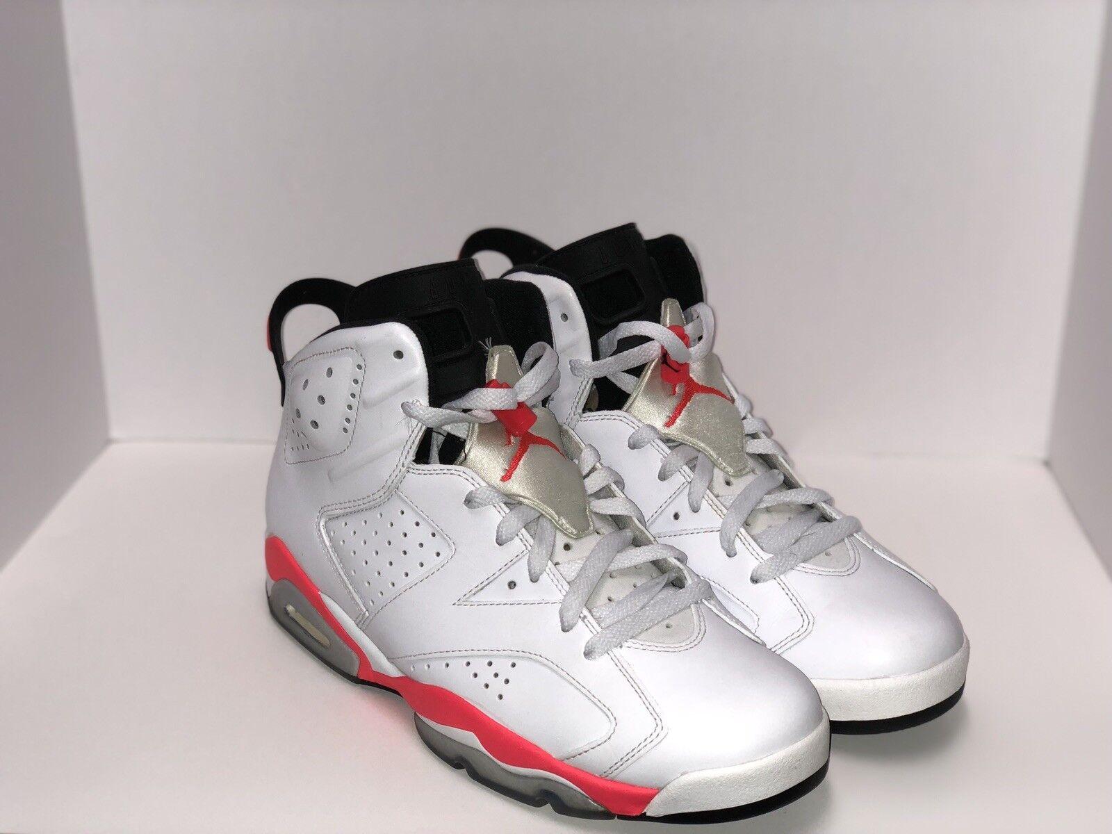 new product 3212a 1f9db Nike Air Jordan 6 Retro VI VI VI White Infrared Sz. 9.5 384664-123