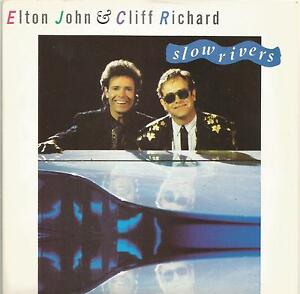 Elton-John-amp-Cliff-Richard-Slow-Rivers-vinyl-single