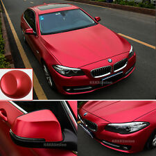 Red Satin Chrome Car Vehicle Stretch Vinyl Wrap 66ft X 5ft