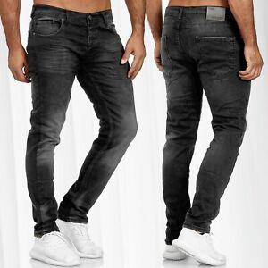 Pantaloni-jeans-da-uomo-classici-usati-regolari-slim-fit-Denim-Pants-lavati-L34