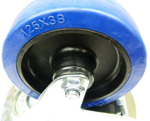 SL Transportrollen Lenkrollen Feststellbremse 20 BLUE WHEELS 125 mm 200kg Rad