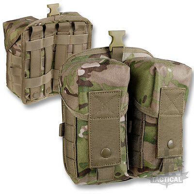MTP MULTICAM MOLLE WEBBING PARA DOUBLE AMMO POUCH BRITISH ARMY C/N MODEL