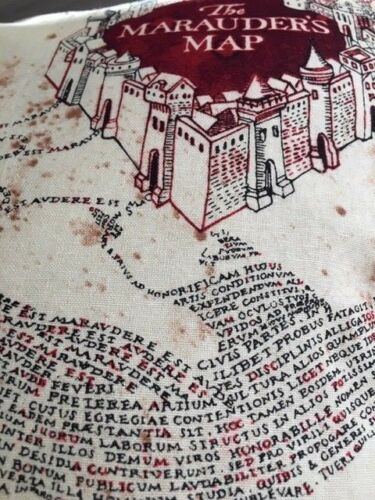 """Harry Potter /'The Marauders Map/' 12/"""" Square Complete Cushion 100/% Cotton Fabric"""
