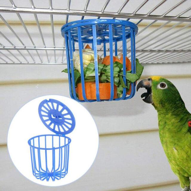 Bird Parrot Food Feeder Fruit Vegetable Cage Holder Hanging Basket Container~