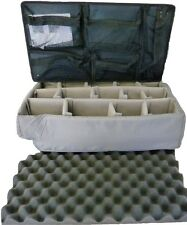 Pelican 1510 1519 Lid Organizer with Padded Dividers (Grey)  NO CASE
