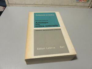 Antologia De Crítica Literaria Volumen 2 - G.Petronius - Laterza Editorial 1965
