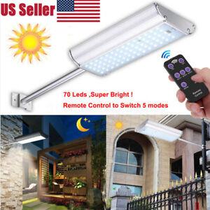 Solar-70-LED-Motion-Sensor-Light-Remote-Outdoor-Garden-Path-Street-Wall-Lamp