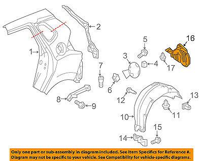 HONDA OEM 15-16 Fit Rear Fender-Liner Splash Shield Right 74551T5RA00