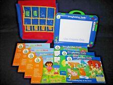 Leapfrog Imagination Desk System 9 Books Cartridges Creativity Pack Backpack Lot