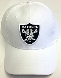 nfl oakland raiders reebok adjustable white hat small stain on cap