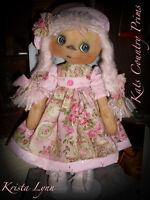 Primitive Raggedy Ann Style Doll Krista Lynn Paper Pattern 139
