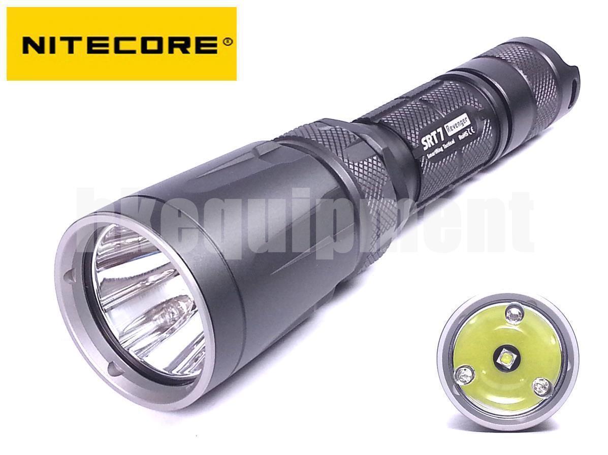 NiteCore SRT7 Revenger Cree XM-L2 T6 Red Green bluee LED Flashlight Grey
