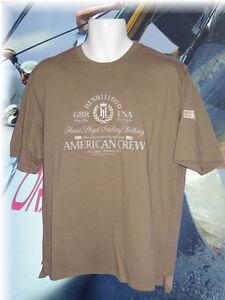 Henri-Lloyd-BMW-American-Crew-Vintage-Baumwolle-Distel-T-Shirt-Khaki-Gros