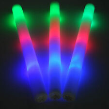 12 PCS LED Light Up Foam Sticks Rally Rave Cheer Tube Soft Glow Baton Wands NEW!