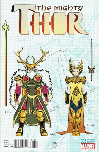 MIGHTY THOR #2 DAUTERMAN DESIGN 1:20 INCENTIVE VARIANT COVER