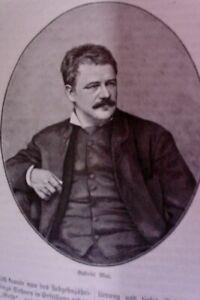 1883-Portraet-Gabriel-von-Max-Holzschnitt-Darwinismus-Spiritismus-Adolph-Kohut