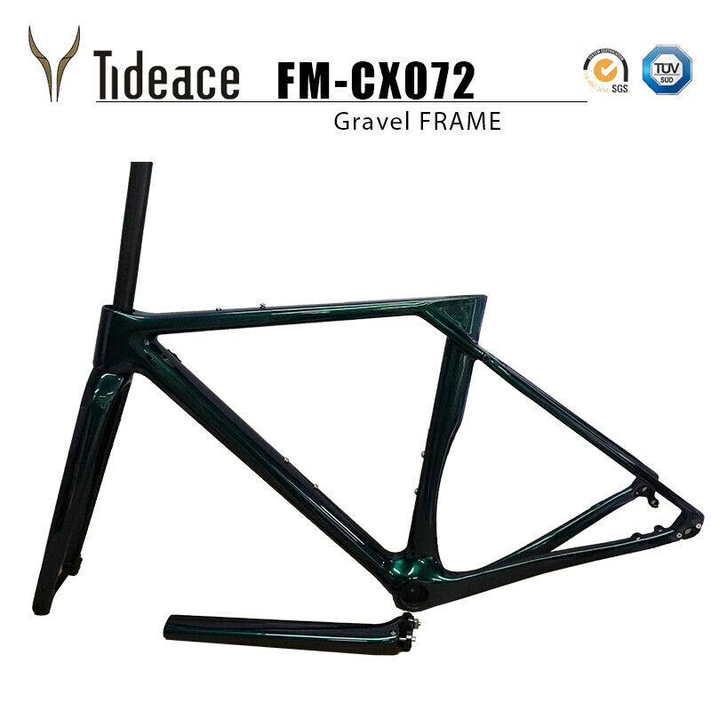 4952545659cm T800 in fibra di carbonio Ghiaia ROAD RACING Bicycle Frame BICICLETTA OEM
