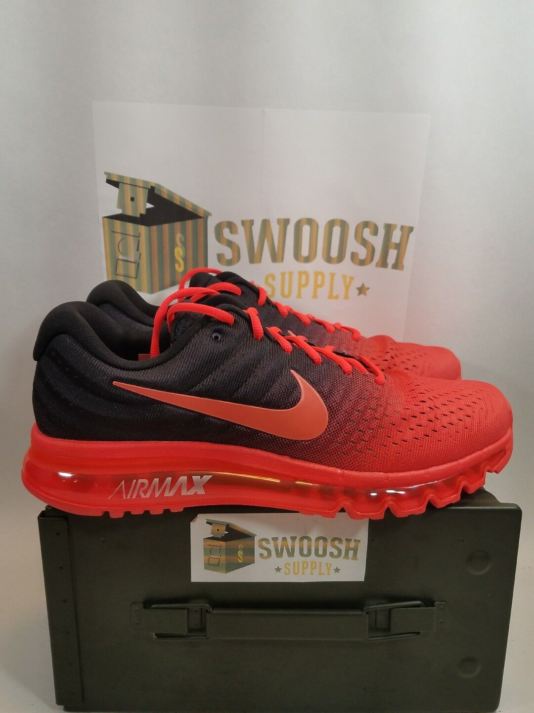 Nike Air Max 2017 Bright Crimson 849559-600 Size 11.5 Retail  190