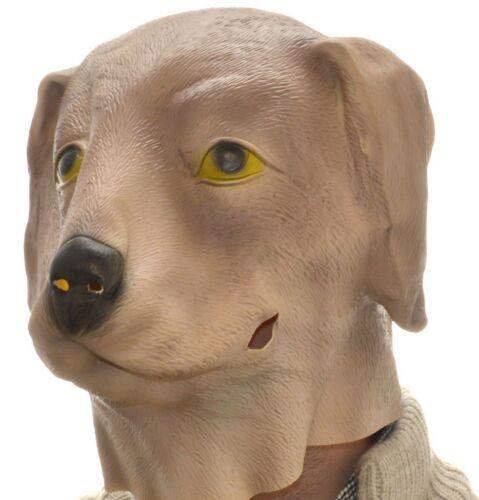 Latex Full Head Overhead Brown Dog Funny Animal Cosplay Halloween Fancy Mask