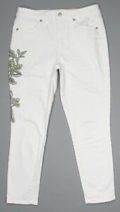 050c204f19838 Universal Thread White High Rise Skinny Crop Jeans Womens Size 6 ...