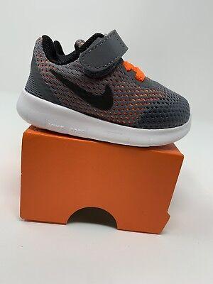 BABY BOYS: Nike Free Run Shoes, Gray & Orange - Size 4c ...