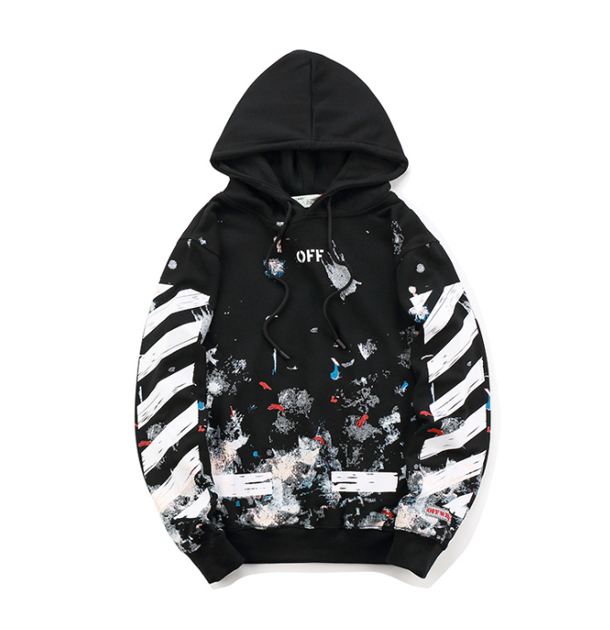 OFF WHITE Hoodie Print Abloh Pyrex Vision Street Sweatshirt Hip hop Wear Jumper