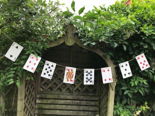 Playing Cards Decoration Alice In Wonderland Theme Wedding Bunting Garland