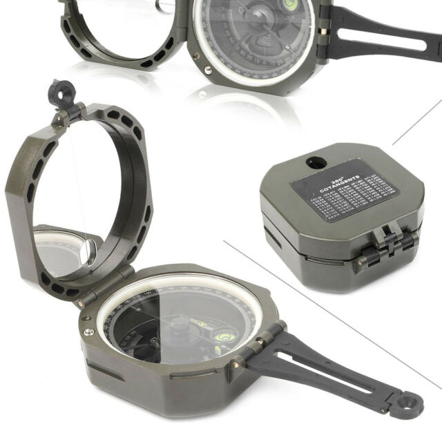 1x Pocket Transit Army Geology Compass for Outdoor Hiking Camping Survival Tool