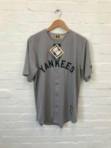New New York Yankees Majestic Men/'s Baseball MLB Cooperstown Jersey Grey