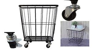 beistelltisch couchtisch mit rollen metall korb gitterkorb metall holz korb neu ebay. Black Bedroom Furniture Sets. Home Design Ideas