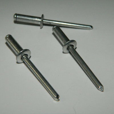 500 Stück Blindnieten 4,0x12 Alu//Stahl Flachkopf 4 x 12 Standard
