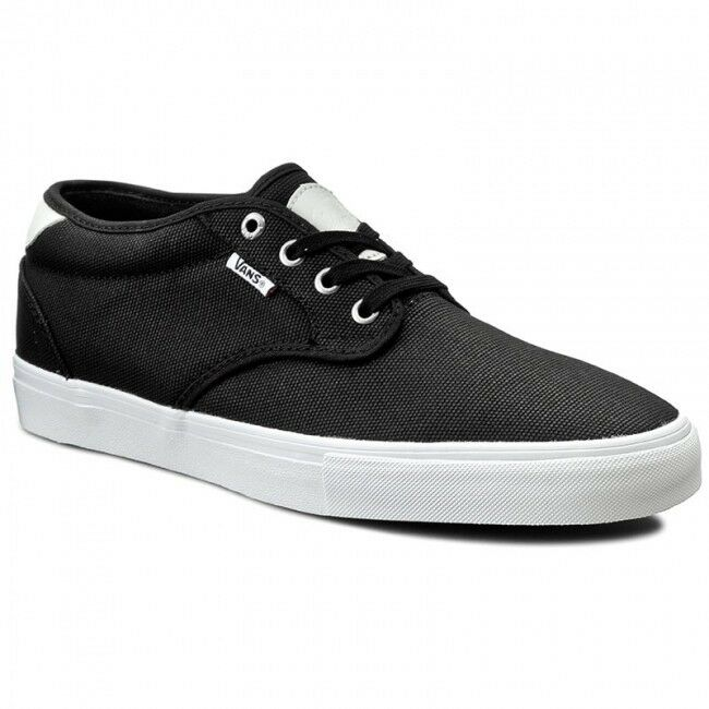 VANS Chima Estate Pro (Waxed Black/White Canvas) Black/White (Waxed Men's Skate Shoes SIZE 7.5 4c7a9c