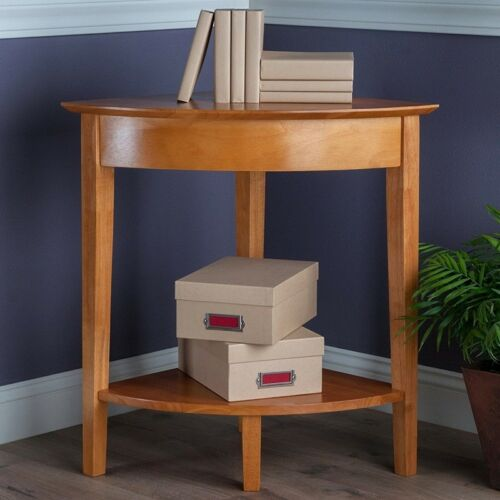Small Corner Table Wooden Bookshelf Home Office Display Shelf Plant Stand NEW