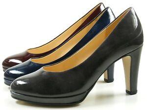 Details zu Gabor 71 270 Schuhe Damen Plateau Lack Pumps Weite F