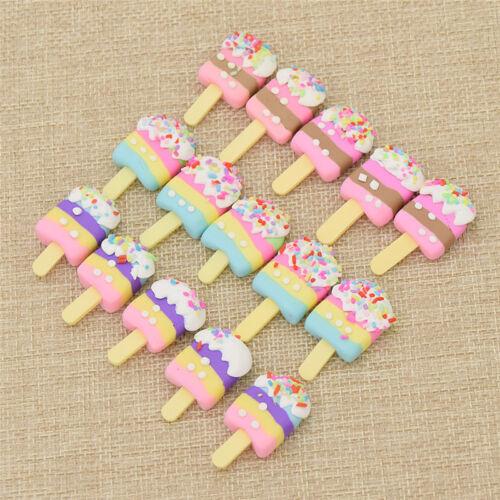 20pcs Resin Ice Cream Dollhouse Sweet Food Miniature Fridge Toy Decoration Gift