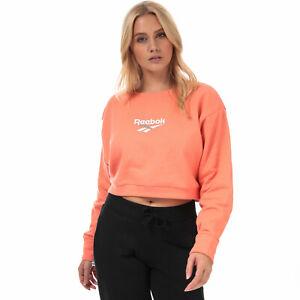 Haut femme Reebok Classics Vector Crew Sweat-shirt à Stellar Pink