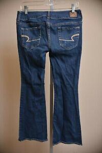 American-Eagle-Jeans-Artist-Low-Rise-Bootcut-Medium-Wash-Women-039-s-size-6-Short