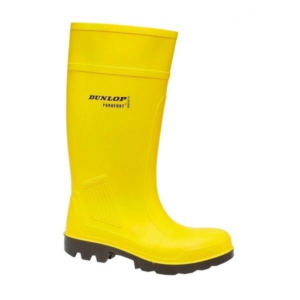Dunlop Purofort gelb Gummistiefel Sicherheit Stahlkappe Gummistiefel