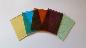 Stained Glass Supplies - 5 Pieces of 3mm Antique Cathedral Glass