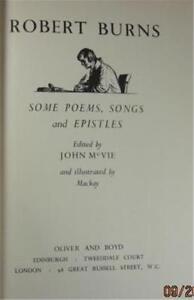 Details About Robert Burns Poems Songs Epistles John Mcvie 1951 First Ed Oliver Boyd London