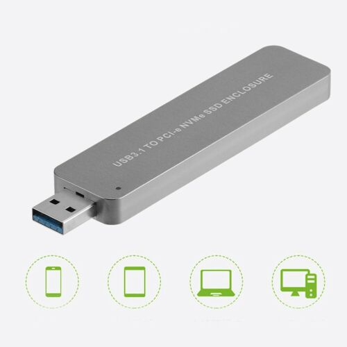 NVMe SSD to USB 3.1 Adapter Converter For PCI-E M.2 2280 SSD External Enclosure