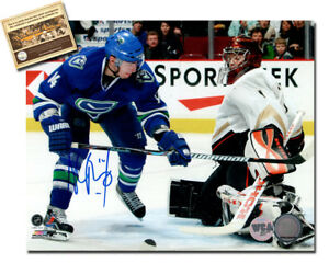 65ec0a39ce4 Alex Burrows Signed 8x10 Hockey Photo - WCA Hologram Certified COA ...