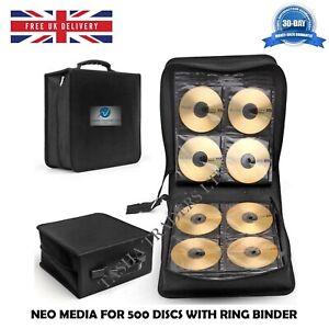 Neo-Support-pour-500-disques-CD-DVD-JEU-Portefeuille-de-stockage-pour-reliure-a-anneaux-Carry-Case