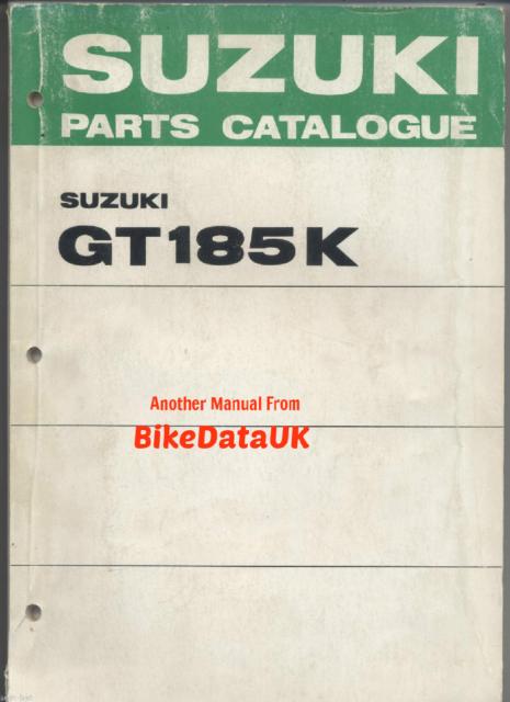 Suzuki Gt185k Parts Manual