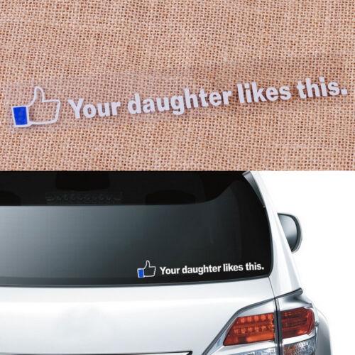 Fun Your Daughter likes this Adesivo Tuning Tatuaggio Auto Car Adesivo Finestra