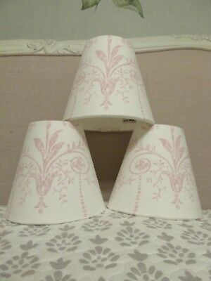 Handmade Lampshade made with Laura Ashley Josette Dove Grey White Fabric Light