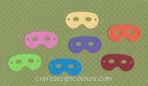 20 X MASKS QUICKUTZ DIE CUT EMBELLISHMENTS CARD TOPPERS