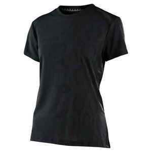 Troy Lee Designs Lilium Women's SS Jersey, Snake Black Medium