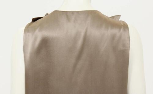 Wunderschöne Taupe 40 Ärmelloses Satin Lanvin Designer Top Damen 8x8PS6