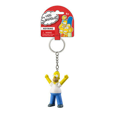 """The Simpsons /""""Homer Hat/"""" Simpson Keyring NEW"""